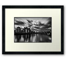 Newcastle/Gateshead Quayside Mono Long Exposure Framed Print