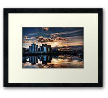 Sunset over the Tyne Framed Print