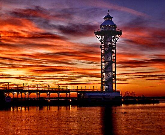 Sunset at Dobbins Landing by Kathy Weaver