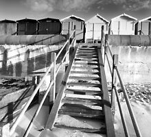 Good Morning Huts! BW by Andy Freer