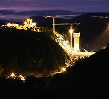 Cotter Dam Enlargement (by night) by Property & Construction Photography