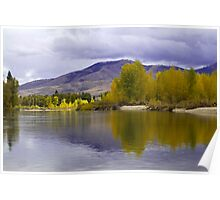 Golden light on a grey day  Poster