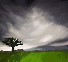 The Tree in the storm by komaro