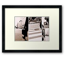 life in nyc Framed Print