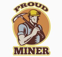coal miner pick axe shovel retro by patrimonio