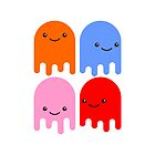 Friendly Ghosts (iPhone Case) by Eozen