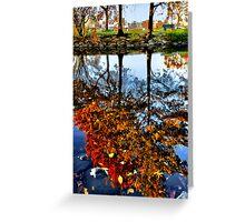 Boston, Fall Reflection  Greeting Card