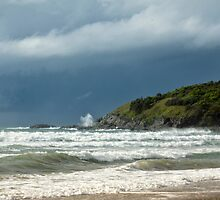 Storm Clouds Over Diggers Beach by Carolyn Boyden