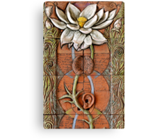 Lotus VII: sense doors - blossoming crown Canvas Print