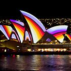 Psychedelic Sails - Sydney Vivid Festival - Sydney Opera House by Bryan Freeman