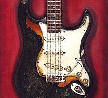 Jimi Hendrix burned his guitar by HermesGC