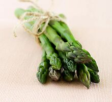 Fresh green asparagus by evthomas