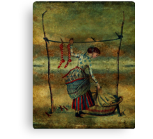 The Striped Stockings Canvas Print
