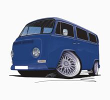 VW Bay-Window Camper Van (D) Blue by Richard Yeomans