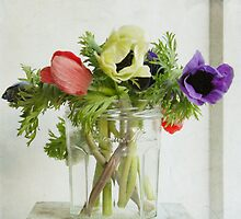 Bonne Maman Jar with Anemones by Fiona Sami