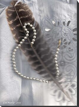 Feather and pearls and a broken heart.. by linmarie