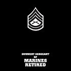 USMC E7 GySgt Retired BW by Sinubis