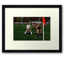 110711 078 0 field hockey Framed Print