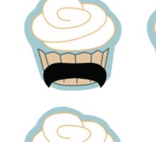 cupcake mustaches Sticker