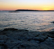 Ocean Point Sunset by EvaMcDermott