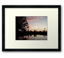 SUNSET, NOVEMBER 9, 2011 Framed Print