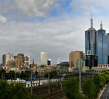 Empty Road Melbourne by Russell Charters