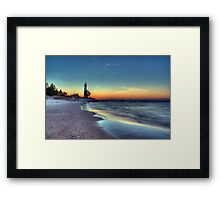 Crisp Point Sunset Framed Print