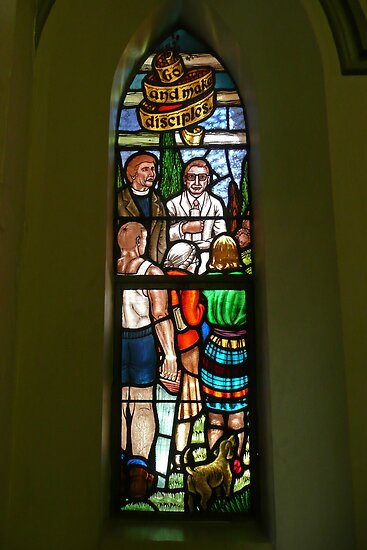 Albert Street Uniting Church, Brisbane, Window 1 by Margaret  Hyde