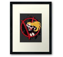 Sailor V for Vendetta Framed Print