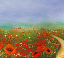 Poppy Field Impressions by Romanovna Fine Art Prints