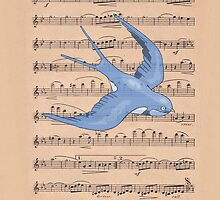 musical bird by Trish Marinozzi