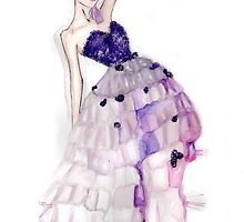 Orchid Fashion Illustration by Chelsea Easley