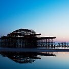 Moonrise at the West Pier by Jack  Williams