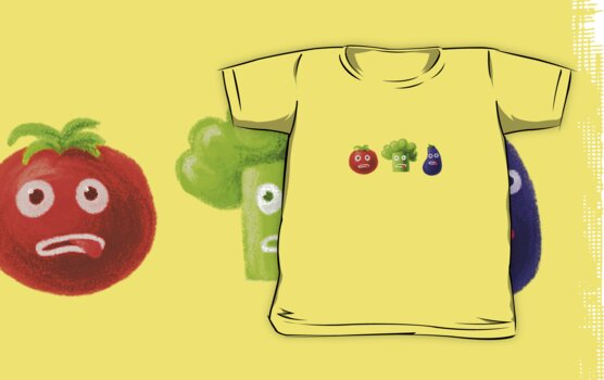 Funny Vegetables T-Shirt by Boriana Giormova