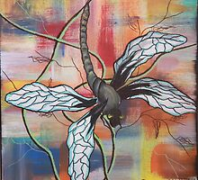 Kris the dragonfly by Dawn  Hawkins