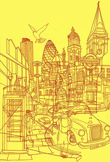 London! Yellow/Red by davidbushell