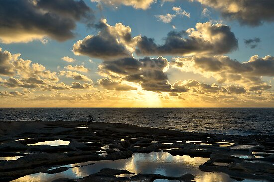 Sunset On The Saltpans by Xandru