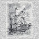 19th century Sailing Ship T-Shirt by Dennis Melling