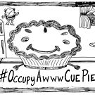 Occupy Awww Cue Pie cartoon by bubbleicious