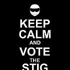 keep calm and vote the stig by Trish Marinozzi