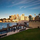 View of Sydney City from Balmain East by Roger Barnes
