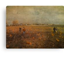 Pumpkin Pickers Canvas Print