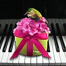 THE HUMMING BIRD ON THE PIANO by E Giupponi
