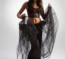 Woman in black by fotorobs