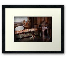 Woodworker - Lathe - Rough cut Framed Print