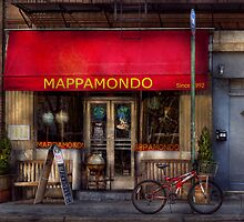 Cafe - NY - Chelsea - Mappamondo  by Mike  Savad