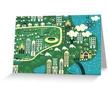 cartoon map of rio de janeiro Greeting Card