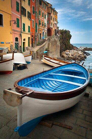 Riomaggiore Boat by Inge Johnsson