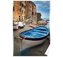 Riomaggiore Boat Poster
