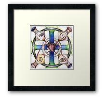 wheel 4: Path with Heart Framed Print